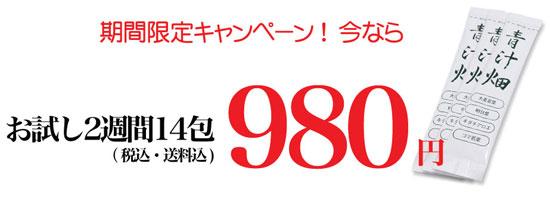 青汁畑980円お試しキャンペーン